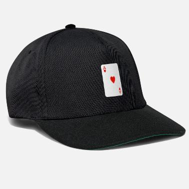 Playing Heart ace playing card - Snapback Cap