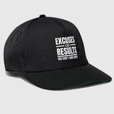Excuses or Results Motivation Quote Entrepreneurs - Snapback Cap