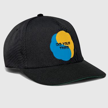 Strange do your thing motto - Snapback Cap