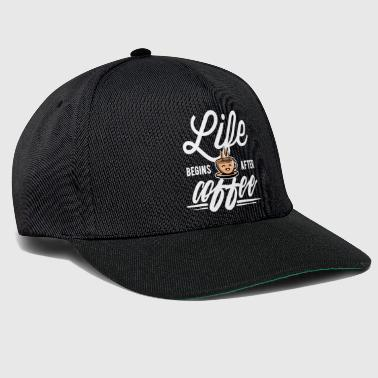 Koffein Coffee - Life begins after Coffee - Snapback Cap