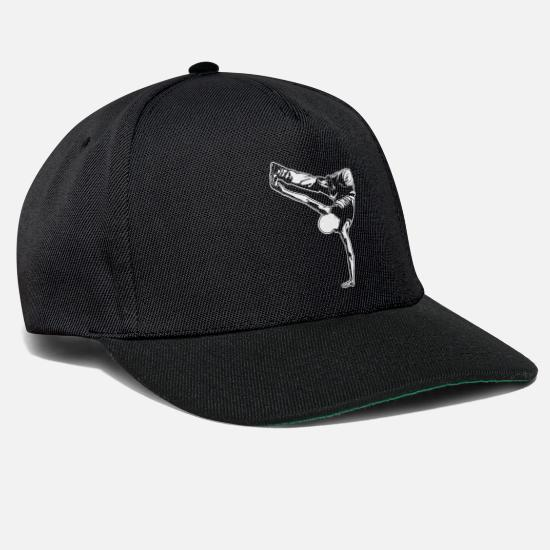 Break Dance Caps & Hats - Cool breakdance move - Snapback Cap black/black