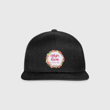 Carpe Diem Pink Quote  - Snapback-caps