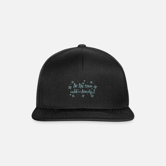 Beard Caps & Hats - Snow Cold and Beautiful - Snapback Cap black/black