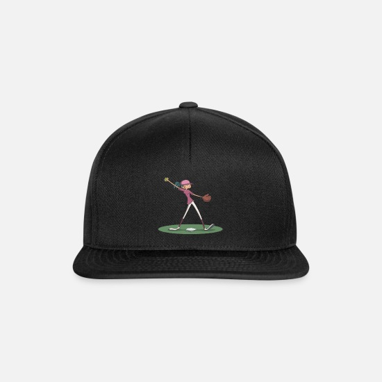 Stadium Caps & Hats - Softball pitcher - Snapback Cap black/black