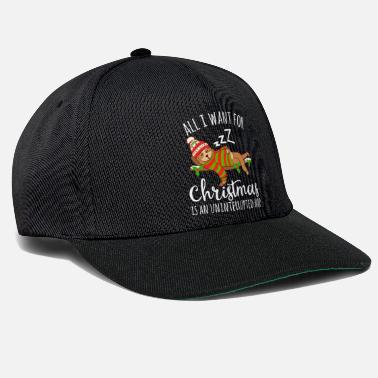 Branch All I Want For Christmas Is An Uninterrupted Nap - Snapback Cap