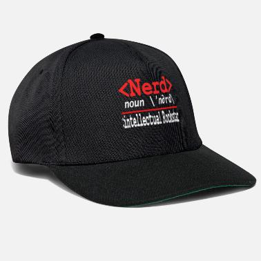 Atoom Geeky Nerdy Streber Math Computer IT University - Snapback cap