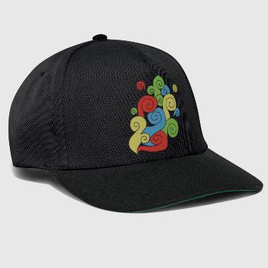 Bright Color Swirls - Snapback Cap
