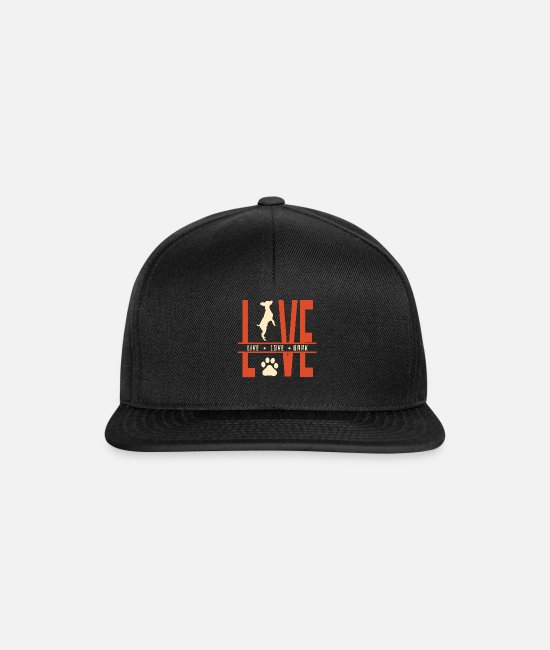Companion Dog Caps & Hats - Live Love Bark - Snapback Cap black/black