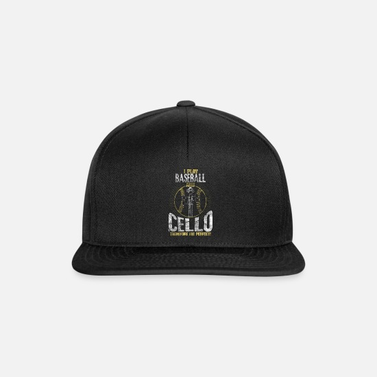 Baseball Players Caps & Hats - Baseball cello gift idea - Snapback Cap black/black