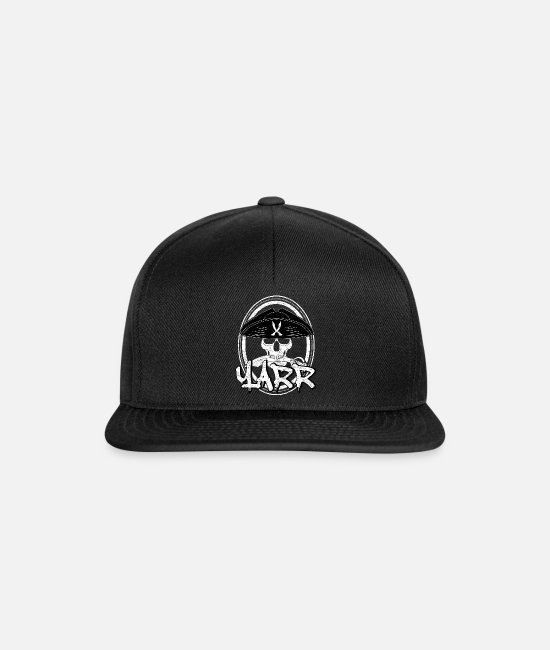 Pirate Flag Caps & Hats - Pirate skull alcohol - Snapback Cap black/black