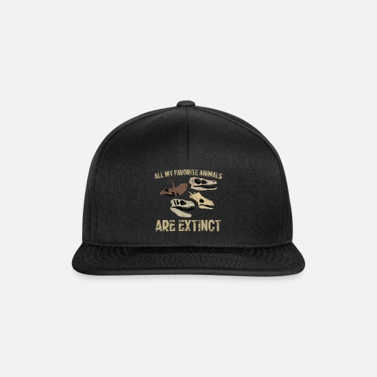 Hunting Caps & Hats - Dinosaurs favorite animals are extinct - Snapback Cap black/black