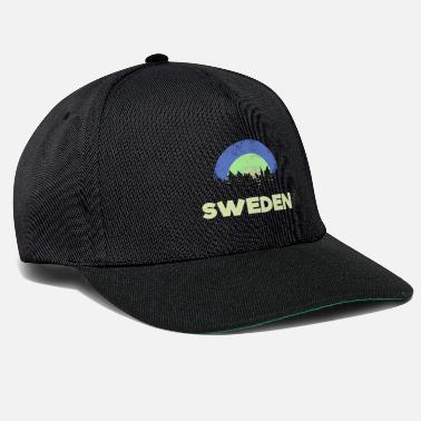 Swedish Sweden with trees and retro colors gift - Snapback Cap