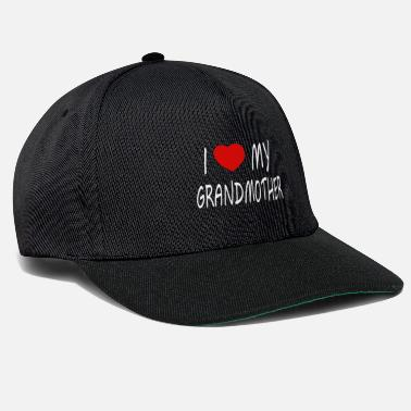 Rotes Herz I love my Grandmother - weiss - Snapback Cap