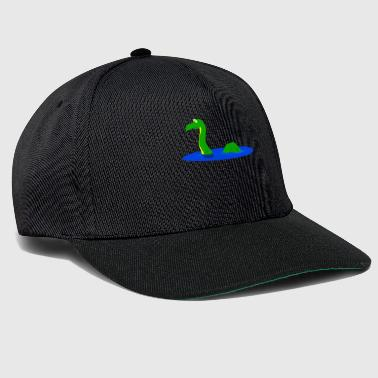 Lochness monster in water gift motif - Snapback Cap