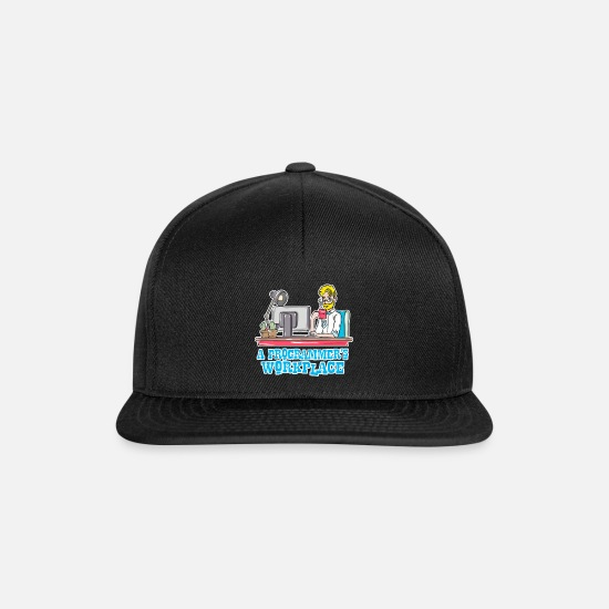 Program Caps & Hats - Programmer computer science gift - Snapback Cap black/black
