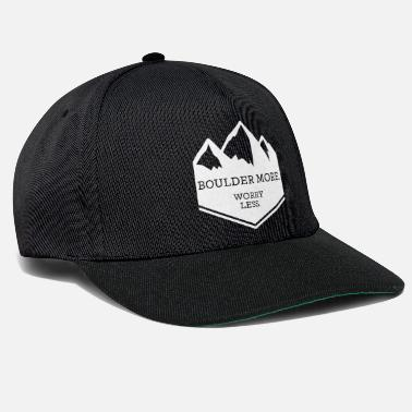 Mountain Sports Boulder climbing mountaineering saying motivation - Snapback Cap