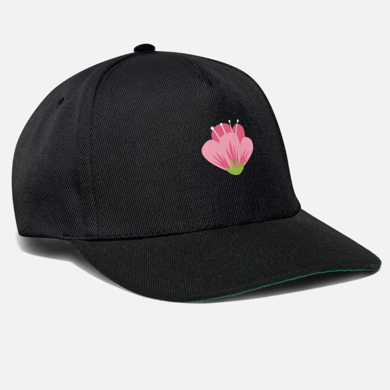 Icone Fleur Rose Design Tendance Casquette Snapback Spreadshirt