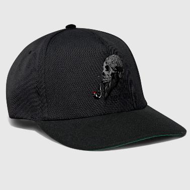 Beard real hipster death head have brain crane skull p - Snapback Cap