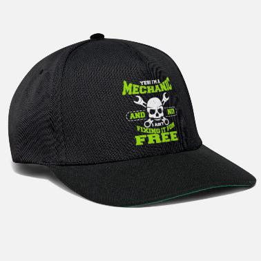 Spanner Mechanic profession spanner screws engineer - Snapback Cap