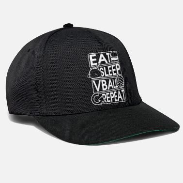Papa Eat Sleep Vball Repeat Volleyball Geschenk - Snapback Cap