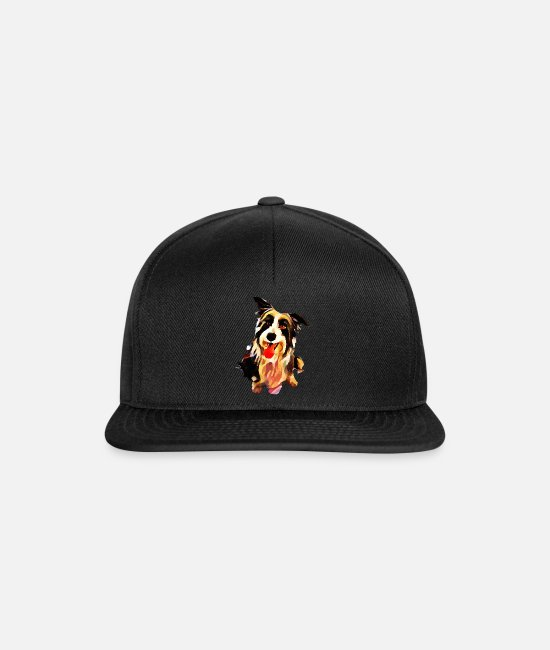 Dog Education Caps & Hats - Little Cute Doggy - dogs - Snapback Cap black/black