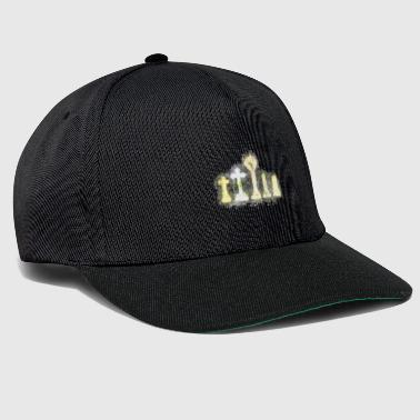 Cemetery gravestone brightly glowing - Snapback Cap