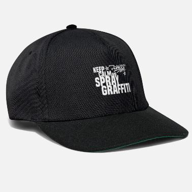 Rap KEEP CALM AND MAKE GRAFFITI Dance white - Snapback Cap