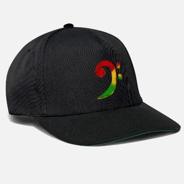 Bass Bass Clef Reggae Gift for bassist - Snapback Cap