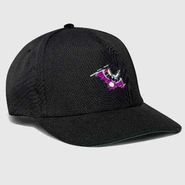 Animal Bat 80's Retro Violet - Czapka typu snapback