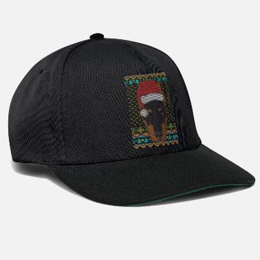 Doberman Pinscher Doberman Ugly Christmas Sweater Gift - Snapback Cap