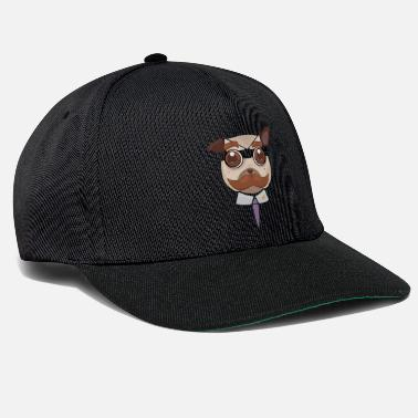 Office Pug art - Snapback Cap