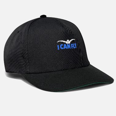 Sports I Can Fly Swimming Butterfly Swimmer Cool Sports - Cappello snapback