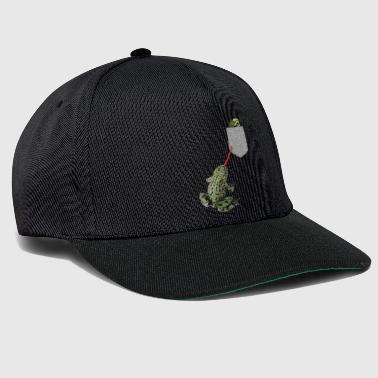 Frog Tongue Reaching For Tadpole In Your Fake - Snapback Cap