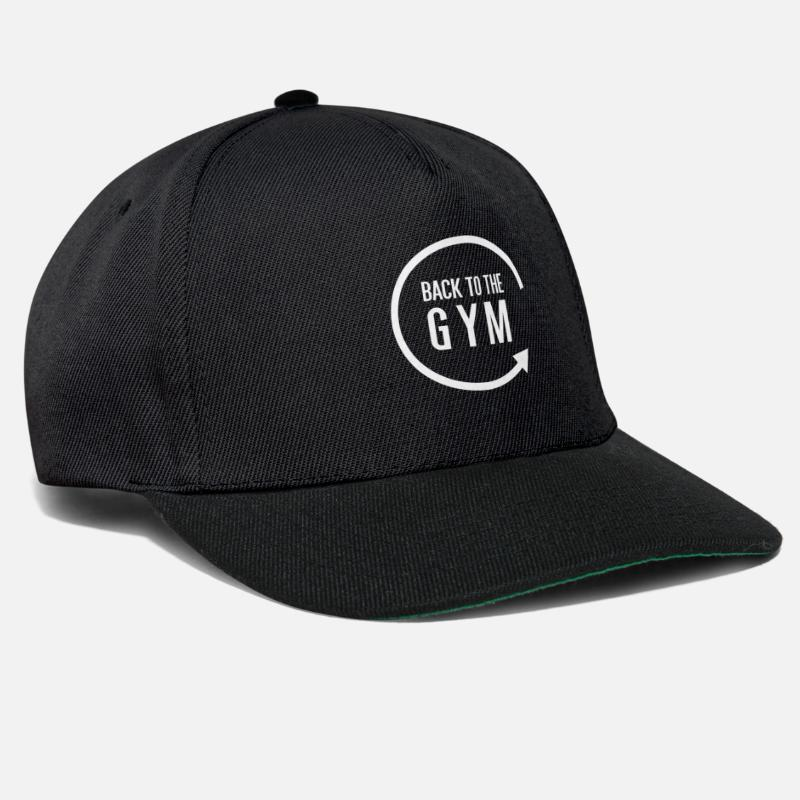 Gym Caps & Hats - Back to the gym - Snapback Cap black/black