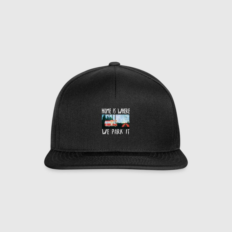 home is where we park it camping shirt camper - Snapback Cap