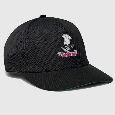 Chef Chef Chef Skull Badass couteau cadeau - Casquette snapback
