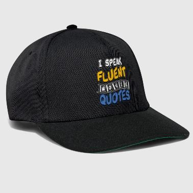 Citation De Film Je parle des citations de films - Casquette snapback