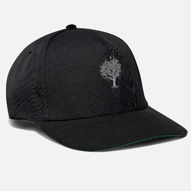 Silhouette Lightbulb Trees Black White - Cappello snapback