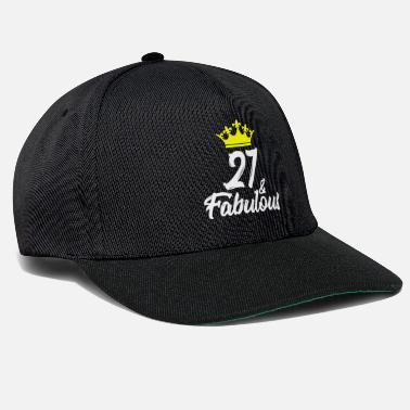 Birthday 27 and Fabulous Birthday Crown Gift - Snapback Cap