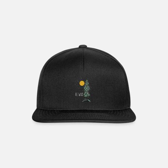 Mountains Caps & Hats - Be Wild Wilderness - Snapback Cap black/black