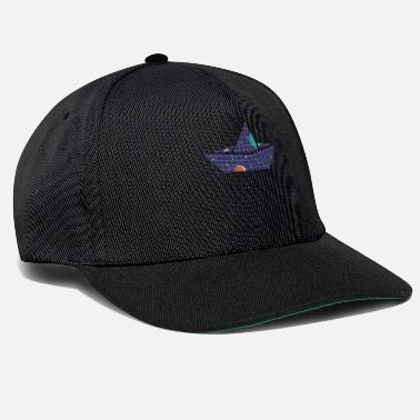 Space Ship Space paper ship - Snapback Cap