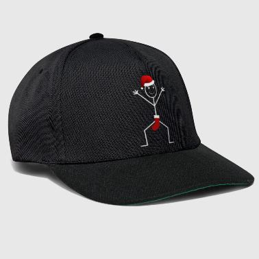 Funny Stick Man Christmas Santa Stick Man Design - Snapback Cap