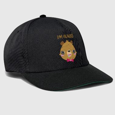 Saying gift comic bear brown bear hungry hungry - Snapback Cap
