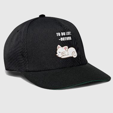 Cat - Cats T-Shirt - Cats - Lazy Fur - Lazy - Snapback Cap