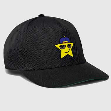 Cool star emoji with cape and glasses - Snapback Cap