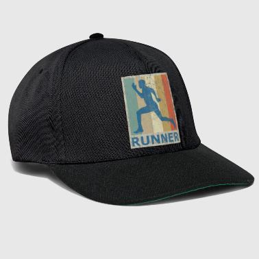 Retro Vintage Style Sprinter Jogging Running Workout - Snapback Cap