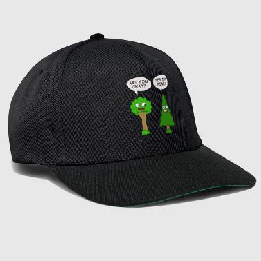 Beautiful Nature Tree Tshirt Design Are You Okay? Yes I'm Pine! - Snapback Cap
