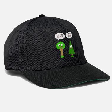 Enviromental Beautiful Nature Tree Tshirt Design Are You Okay? Yes I'm Pine! - Snapback Cap