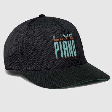 Elsker piano piano gave sier musiker - Snapback-caps