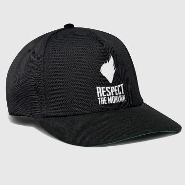 Respect The Mohawk Funny Haircut Style Novelty - Snapback Cap